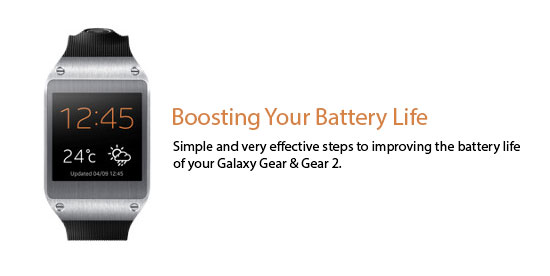 Boosting Your Galaxy Gear Battery Life